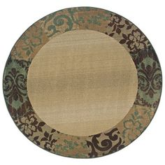 The Conestoga Trading Co. Liam Beige/Green Area Rug Rug Size: Round 8'
