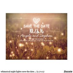 whimsical night lights save the date blush