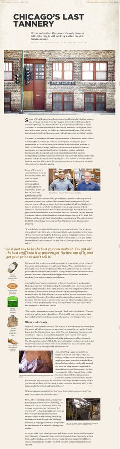 Chicago's Last Tannery Blog Layout, Layout Design, Editorial Layout, Editorial Design, Tool Design, Design Process, News Website Design, Chicago Events, Mobile Design