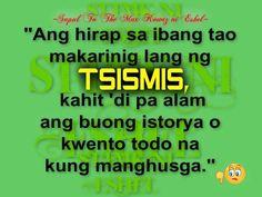 Tsismis Quotes | pacute.com Pinoy Quotes, Pdf, Content