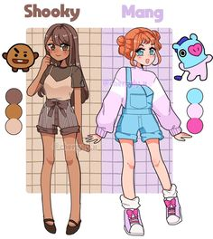 Arte Do Kawaii, Kawaii Art, Cute Kawaii Drawings, Cute Art Styles, Cartoon Art Styles, Drawing Anime Clothes, Fashion Design Drawings, Bts Drawings, Anime Outfits