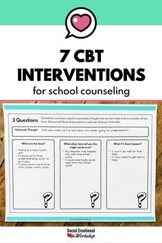 Coping Skills Activities, Counseling Activities, Counseling Worksheets, Teen Activities, Group Counseling, Therapy Activities, Counseling Techniques, Cbt Techniques, Elementary School Counseling