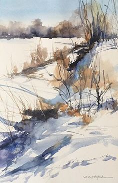 January Morning by Sandy Strohschein Watercolor ~ 16 x 12