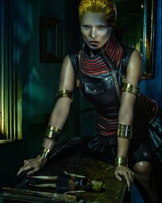Style on the street: Kate Moss stuns in Alexander McQueen Spring/Summer 2014 campaign by Steven Klein