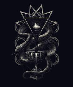 The Dark Cup by Rafael Tavares Dark Fantasy, Fantasy Art, Snake Art, Esoteric Art, Arte Obscura, Slytherin Aesthetic, Occult Art, Snake Design, Biblical Art