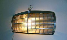 Vintage Mercedes Benz Chrome Grille Wall Light - Scone - accent light - vintage auto - man cave - car grill - car grille - auto art by FlippyMondo on Etsy Car Part Furniture, Automotive Furniture, Furniture Plans, System Furniture, Bench Furniture, Design Furniture, Kids Furniture, Car Part Art, Car Parts Decor