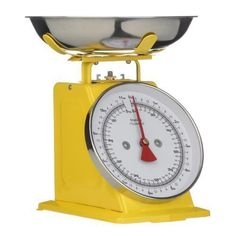 Premier Housewares 5 kg Retro Kitchen Scale, Yellow