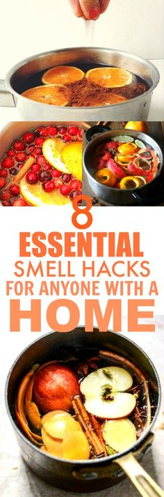 These 8 smell hacks are THE BEST! I'm so happy I found these AWESOME tips! Now I can make my home smell like Fall and the holidays! Definitely pinning for later!