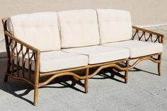 Your place to buy and sell all things handmade Bamboo Sofa, Rattan Sofa, Bedroom Sofa, Unique Furniture, Outdoor Sofa, Etsy Store, Love Seat, Cushions, Indoor