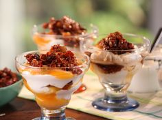 Apricot-Yogurt Parfait with California Granola Recipe : Bobby Flay : Food Network - FoodNetwork.com