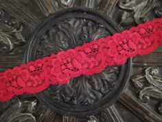 """1 1/4"""" scalloped berry stretch lace headband or purchase by the yard for your own craft or project!!"""