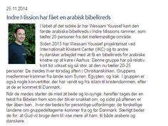 Dette er en kort artikel/ webtekst om en den første arabisk bibelkreds i Indre mission historie.  Denne artikel var en af de opgaver jeg havde i min praktik hos IM region Aarhus og den blev lagt ud på deres website.
