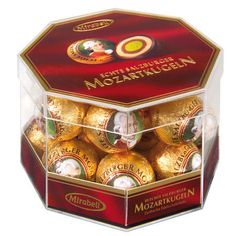 Mirabell Mozart rounds in transparent box 18 pcs.