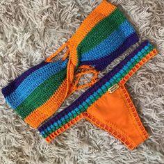 Motif Bikini Crochet, Crochet Halter Tops, Crochet Top, Knit World, Crochet Lingerie, Crochet Woman, Crochet Fashion, Slip, Bra Tops