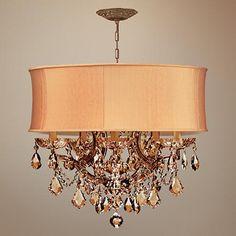Brentwood Collection Harvest Gold 6-Light Crystal Chandelier