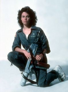 Sigourney Weaver as Ripley, the Warrant Officer aboard the Nostromo. (Alien)