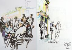 Almost the start of the urban Sketchers Symposium in Manchester…