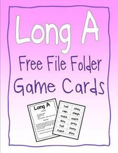These are a free download that go with my thematic blank file folder games.  (Like Crazy Bots)You can download these and do as you please with ...