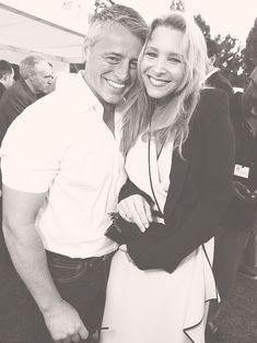 """We're not getting any younger."" Still Friends: Matt Leblanc & Lisa Kudrow."