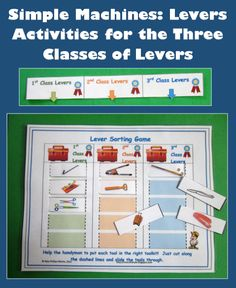 Simple Machines - Levers - Activities for the Three Classes of Levers $ #science