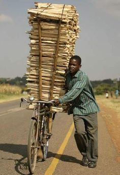 Transport on Bike We <3 Africa :) Come and Volunteer with us!