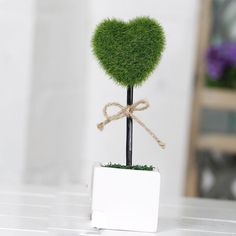 ARTIFICIAL FLOWERS TREES LOVE/HOME SMALL CERAMIC POTTED PLANTS HOME SHOP DIY