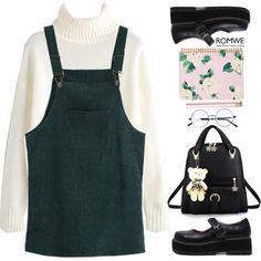 School in the 90's by gabygirafe on Polyvore featuring moda, ban.do and vintage