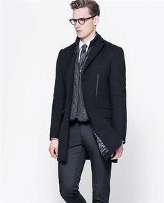 ZARA Man BNWT Coat With Detachable Waistcoat Cotton Wool RRP £169.00 7179/35