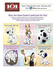 101 Dalmatians Easter cards just for you!