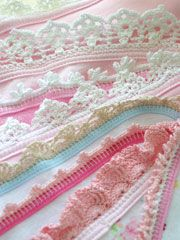 Baby Edgings Set Pattern Pack - Crochet by using size 10 thread.