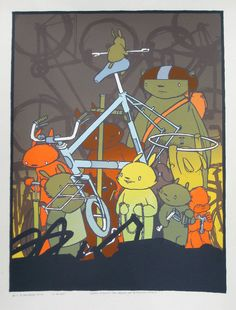 Jay Ryan Biking Print to benefit Livestrong $60