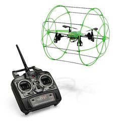 SkyRunner 1700 NX Quadrocopter Remote Control Drone w/Roll Cage