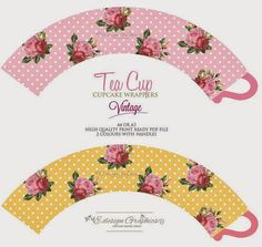 New Ideas Birthday Box Template Tea Cups Paper Tea Cups, Cupcake Wraps, Paper Crafts, Diy Crafts, Birthday Box, Alice In Wonderland Party, Partys, Party Printables, Paper Dolls