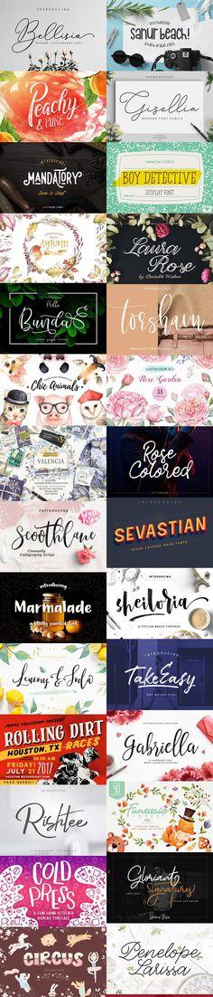 September #Fonts & #Graphics #Bundle for creative people.