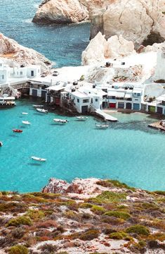Discover Milos: in the heart of the Aegean, in the Cyclades, you'll find beautiful beaches and a lunar landscape that is bound to amaze you! Greece Sea, Greece Islands, Santorini Greece, Athens Greece, Places To Travel, Places To Go, Travel Destinations, Greece Culture, Greek Isles