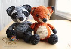 Amigurumi Croche patroon Bandit de wasbeer door littlemuggles