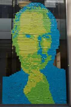 4001 Post It Notes for Steve Jobs:  Apple Store, Munich. Photo by Tobias. Here is a link for the time lapse video http://tinyurl.com/6ztcldc   #Apple #Munich #Post_It_Notes #Tobias_Muller