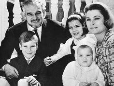 Princess Grace and Prince Rainier, with their children, Prince Albert, Princess Caroline and Princess Stephanie