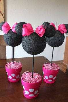 Minnie Mouse Centerpieces first birthday decorations Minnie
