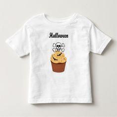 A Halloween Skull and Bats Toddler T-shirt