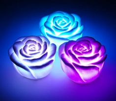 7 Color Changing Rose Flower Night Light, Battery-powered Automatically Color Changing LED Waterproof Rose Shape Night Light Flameless Candles,Novelty Romantic Lamp for Room Party Decor(Body: White) Led Candle Lights, Candle Lamp, Flameless Candles, String Lights, Bougie Rose, Rose Candle, Flower Lights, Colorful Roses, Led Night Light