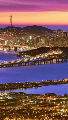 Outstanding Places Around the World - Bay Bridge, San Francisco, USA Ponte Golden Gate, Places To Travel, Places To See, Places Around The World, Around The Worlds, Pont Paris, San Francisco California, California Usa, Berkeley California