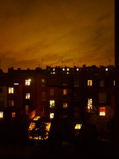 through my window at night