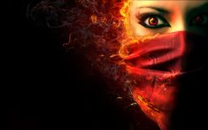 Dark Evil Demons | Fantasy dark horror face demon evil women wallpaper.