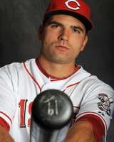 Joey Votto, Cincinnati Reds, 2/25/2012; the best looking man on baseball! And he wears my lucky number!!!