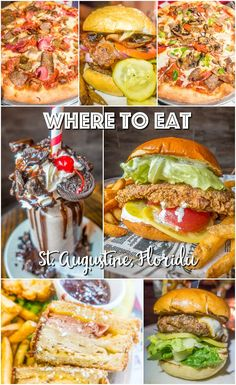 Where to Eat in St. Augustine, Florida - we found several hidden gems in St. Augustine that you MUST try on your next trip. Pizza, Burgers, Sandwiches, Craft Cocktails, and CRAZY milkshakes! Something for everyone!!