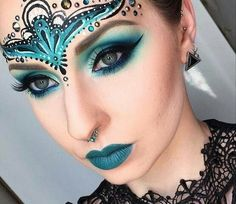 The forehead makeup is interesting, though think would be better as an actual head piece