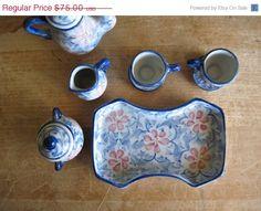 Miniature Antique Porcelain Tea Set by RushCreekVintage on Etsy https://www.etsy.com/listing/228771816/miniature-antique-porcelain-tea-set