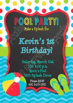 Pool Party Ideas  Kids Summer Printables  Birthdays Birthday