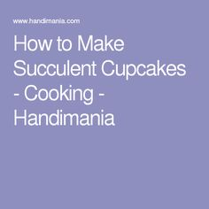 How to Make Succulent Cupcakes - Cooking - Handimania
